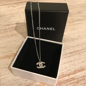 Authentic Chanel Timeless CC crystal necklace
